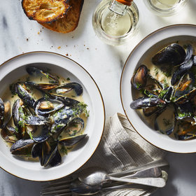 Food & Wine: Mussels Avgolemono