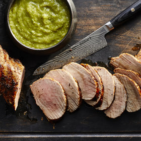 Food & Wine: Pork Tenderloin with Charred Tomatillo Salsa