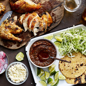 Food & Wine: Grill-Roasted Chicken and Tomato–Red Chile Salsa