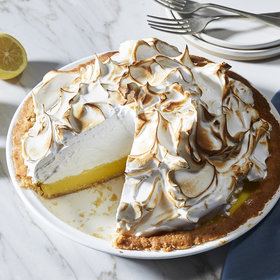 Food & Wine: Lemon Meringue Pie with Marcona Shortbread Crust