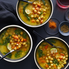 Food & Wine: Moroccan Chickpea, Carrot, and Spinach Soup