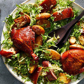 mkgalleryamp; Wine: Smoked Duck with Potatoes and Frisée