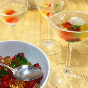 Food & Wine: Oyster-Topped Bloody Marys and Birthday Champagne with Vodka-Soaked Gummy Bears