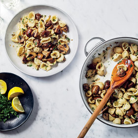 Food & Wine: Garlicky Cremini Pasta with Parsley
