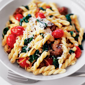 Food & Wine: Gemelli with Sweet Sausage and Spinach