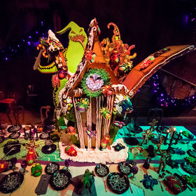 Food & Wine: Disney's 'Haunted Mansion' Gingerbread House Is Swarming With Creepy Crawlies