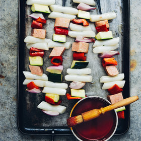 Food & Wine: Glazed Korean Rice Cake Skewers with Spam
