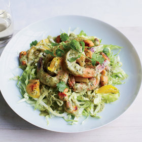 Food & Wine: Green Curry Shrimp Lettuce Bowl