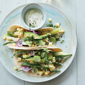Food & Wine: Green-Market Tacos with Corn Crema