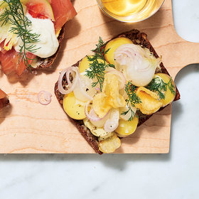 Food & Wine: Green Potato Smørrebrød