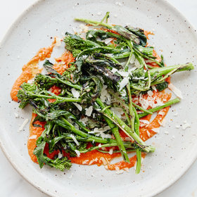 mkgalleryamp; Wine: Grilled Broccoli Rabe with Salsa Rossa