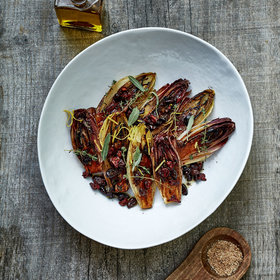 Food & Wine: Grilled Endives with Sun-Dried Tomato Relish