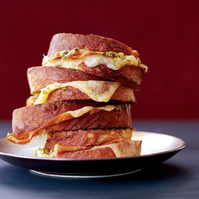 Food & Wine: Grilled Ham-and-Cheese Sandwiches with Tapenade