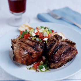 Food & Wine: Grilled Ouzo-and-Nutmeg Lamb Chops