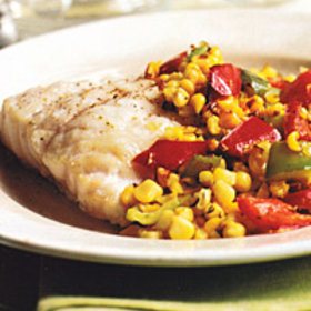 Food & Wine: Grouper with Roasted Corn and Peppers