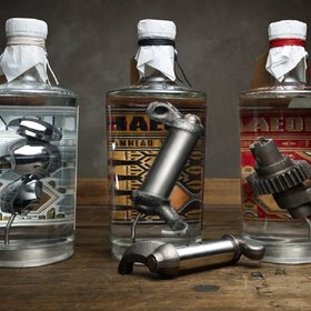 mkgalleryamp; Wine: This Top Shelf Gin Is Infused With Old Harley-Davidson Parts