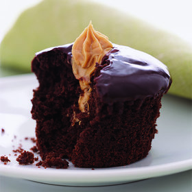 Food & Wine: Double Dark Chocolate Cupcakes with Peanut Butter Filling