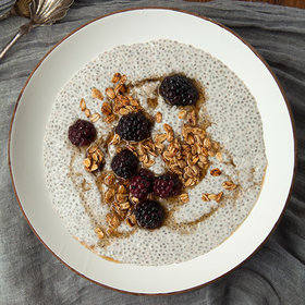 Food & Wine: Spiced Chia Pudding with Blackberries and Granola