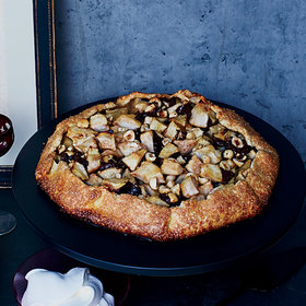 Food & Wine: Dark Chocolate-Pear Galette