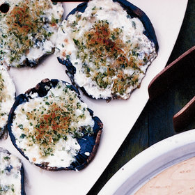Food & Wine: Four Cheese-Stuffed Portobellos