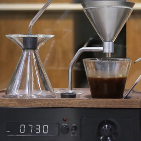 Food & Wine: This Coffee Brewer Alarm Clock Is the Stuff (Very Caffeinated) Dreams Are Made Of