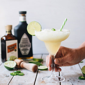Food & Wine: Jalapeño Basil Lime Frozen Margarita
