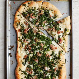Food & Wine: Kale and Sausage Pizza
