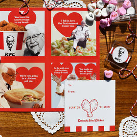 Food & Wine: KFC's Scratch 'N' Sniff Valentines Smell Like Fried Chicken