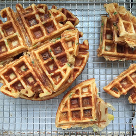 Food & Wine: How to Make Kimchi-Cheddar Waffles
