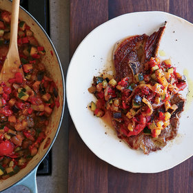 Food & Wine: Lamb Shoulder Steaks with Ratatouille