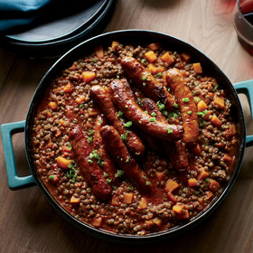 Food & Wine: Lentils with Butternut Squash and Merguez Sausage