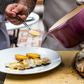 Food & Wine: Grilled Fish and Garlic Sauce