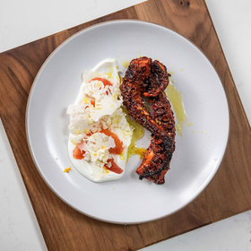 Food & Wine: Tandoori Octopus with Yogurt, Cauliflower, and Grapefruit