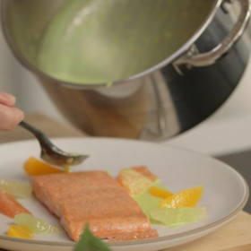 Food & Wine: Salmon with Citrus Sauce, and a Ludo Lefebvre Twist