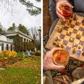 Food & Wine: Canada's Coziest Getaway Includes Fireside Chess, Hard Cider with Monks, and the Best Grilled Cheese