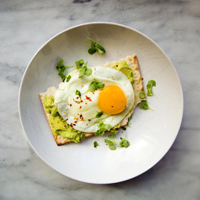 Food & Wine: Matzo Avocado Crostini with Fried Eggs