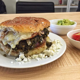Food & Wine: The Brilliant New Green Chile Cheeseburger at Mission Cantina