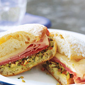 Food & Wine: Hot Muffuletta