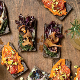 Food & Wine: Mushroom Flatbreads with Winter Pesto
