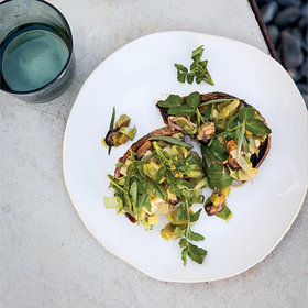 Food & Wine: Mussel-and-Leek Salad Crostini