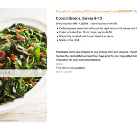 Food & Wine: $66 Collard Greens Sell Out at Neiman Marcus