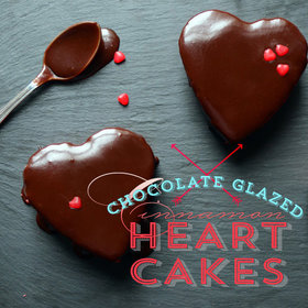 Food & Wine: Pixel Whisk How-To: Chocolate-Glazed Cinnamon Heart Cakes