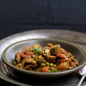 Food & Wine: Okra and Green-Pea Curry