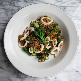 Food & Wine: Squid Salad + Sicilian White = A Mini Vacation?