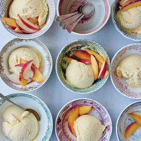 Food & Wine: Peach-Buttermilk Ice Cream