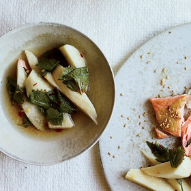 Food & Wine: Pickled Jicama and Shiso