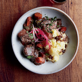 mkgalleryamp; Wine: Pinot Noir–Braised Pot Roast with Root Vegetables