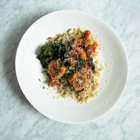 Food & Wine: Quinoa Meatballs with Tomato Sauce and Tuscan Kale