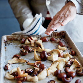 Food & Wine: Roasted Mushrooms with Red Wine Butter