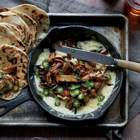 Food & Wine: Bacony Tortillas with Melted Cheese and Crispy Mushrooms